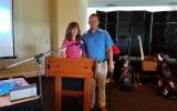 Lauren Jones and Golf Pro Brian Myrick